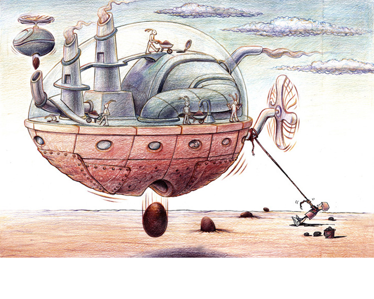 'The motherload' 2011 coloured pencil on paper 28.8 X 40.5cm