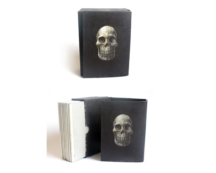 'A book of death cards' 2010 Mixed media on various papers