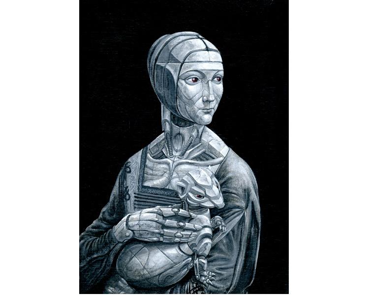 'The ironmonger's wife' 2010  Acrylic on wood 30 X 21 cm