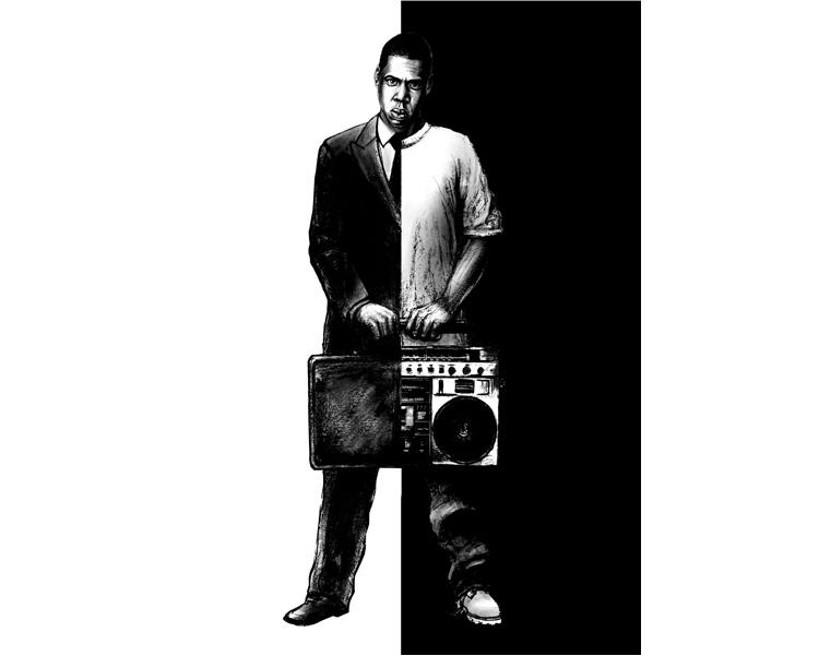 'Jay-Z' 2011  Mixed media & digital