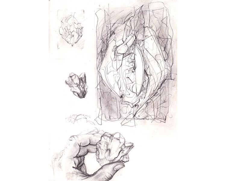 'Alien Relic 3' 2010 Graphite on paper 30 X 21 cm