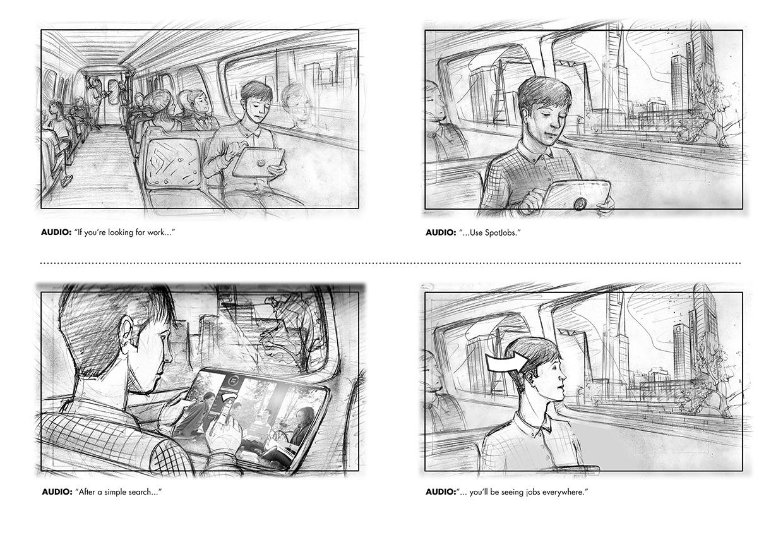 Visual Storyboards | Hayden Dewar Imagestation Melbourne Based Illustrator Storyboard