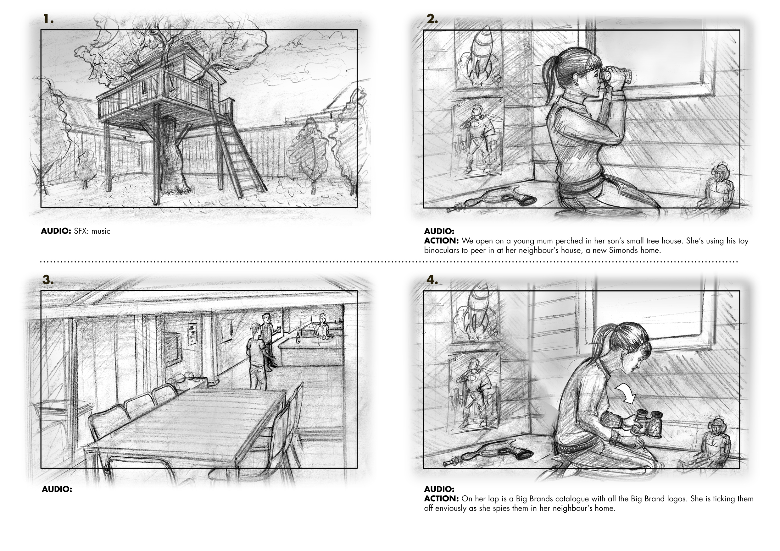 A selection of Storyboards from 2014 - Hayden Dewar